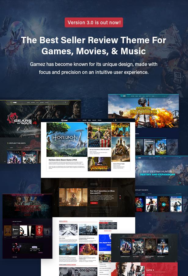 Best WordPress Review Theme For Games, Movies And Music - Gamez - 2