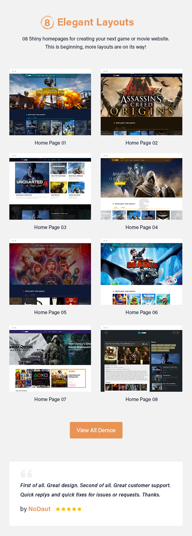 Best WordPress Review Theme For Games, Movies And Music - Gamez - 5